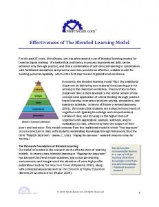 Effectiveness of The Blended Learning Model
