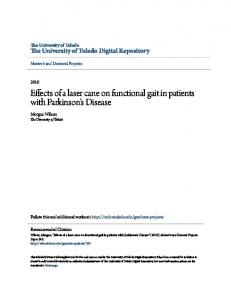 Effects of a laser cane on functional gait in patients with Parkinson's Disease