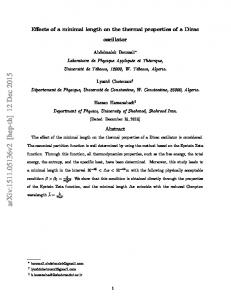 Effects of a minimal length on the thermal properties of a Dirac oscillator. Abstract