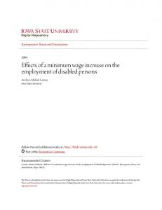 Effects of a minimum wage increase on the employment of disabled persons