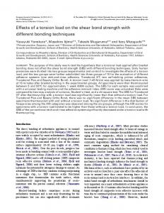 Effects of a torsion load on the shear bond strength with different bonding techniques