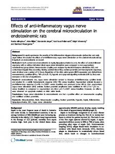 Effects of anti-inflammatory vagus nerve stimulation on the cerebral microcirculation in endotoxinemic rats