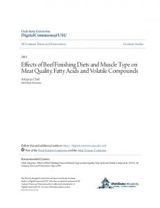 Effects of Beef Finishing Diets and Muscle Type on Meat Quality, Fatty Acids and Volatile Compounds