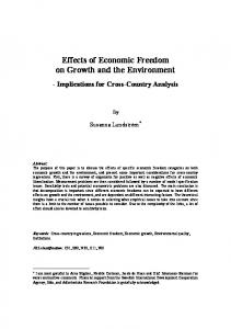 Effects of Economic Freedom on Growth and the Environment