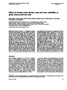 Effects of elevated carbon dioxide, ozone and water availability on spring wheat growth and yield