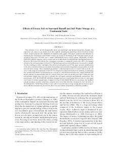 Effects of Frozen Soil on Snowmelt Runoff and Soil Water Storage at a Continental Scale