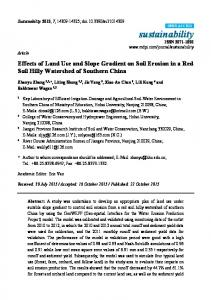 Effects of Land Use and Slope Gradient on Soil Erosion in a Red Soil Hilly Watershed of Southern China