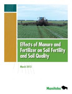 Effects of Manure and Fertilizer on Soil Fertility and Soil Quality
