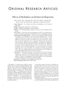 Effects of Methadone on QT-Interval Dispersion