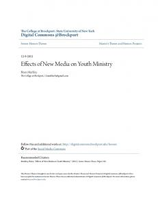 Effects of New Media on Youth Ministry