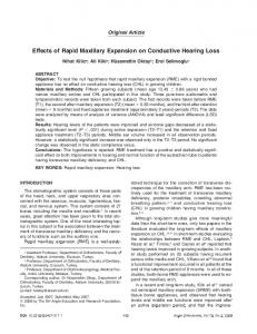 Effects of Rapid Maxillary Expansion on Conductive Hearing Loss