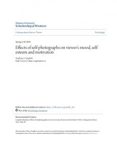 Effects of self-photographs on viewer s mood, selfesteem