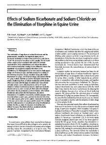 Effects of Sodium Bicarbonate and Sodium Chloride on the Elimination of Etorphine in Equine Urine