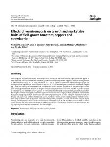 Effects of vermicomposts on growth and marketable fruits of field-grown tomatoes, peppers and strawberries