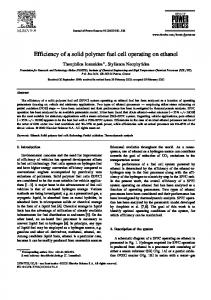 Efficiency of a solid polymer fuel cell operating on ethanol