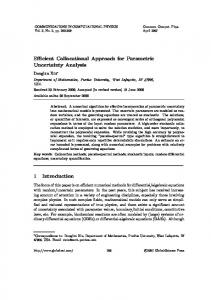 Efficient Collocational Approach for Parametric Uncertainty Analysis