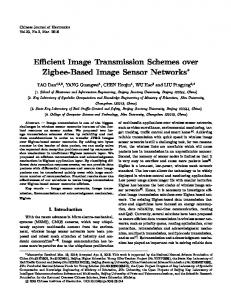 Efficient Image Transmission Schemes over Zigbee-Based Image Sensor Networks
