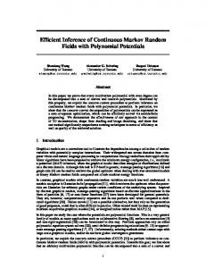 Efficient Inference of Continuous Markov Random Fields with Polynomial Potentials