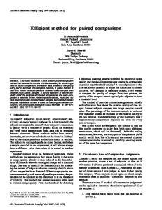 Efficient method for paired comparison