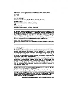 Efficient Multiplication of Dense Matrices over GF(2)