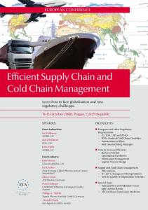 Efficient Supply Chain and Cold Chain Management