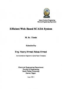 Efficient Web-Based SCADA System