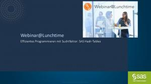 Effizientes Programmieren mit Suchtfaktor: SAS Hash-Tables