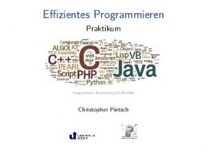 Effizientes Programmieren