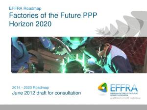 EFFRA Roadmap Factories of the Future PPP Horizon Roadmap June 2012 draft for consultation