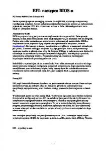 EFI- następca BIOS-u. Poznaj EFI