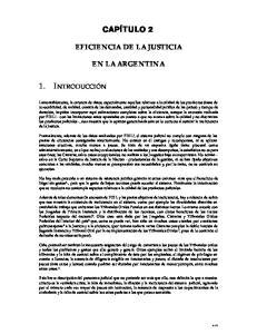 EFICIENCIA DE LA JUSTICIA EN LA ARGENTINA