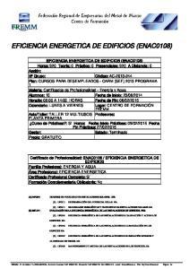 EFICIENCIA ENERGETICA DE EDIFICIOS (ENAC0108)