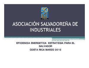 EFICIENCIA ENERGETICA ESTRATEGIA PARA EL SALVADOR COSTA RICA MARZO 2010
