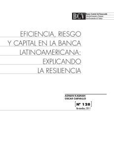 Eficiencia, Riesgo y Capital en la Banca Latinoamericana: Explicando la Resiliencia