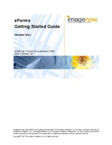 eforms Getting Started Guide