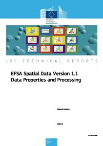 EFSA Spatial Data Version 1.1 Data Properties and Processing