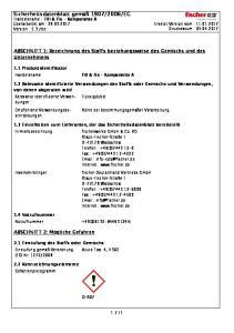 EG Handelsname : Fill & Fix - Komponente A