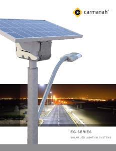 EG-SERIES SOLAR LED LIGHTING SYSTEMS