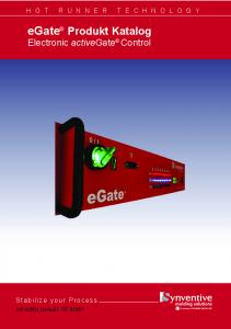egate Produkt Katalog Electronic activegate Control Stabilize your Process