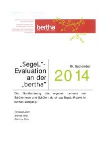 egel - Evaluation an der