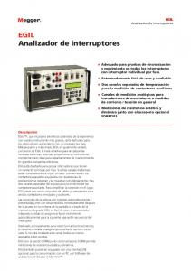 EGIL Analizador de interruptores