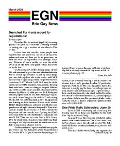 EGN. Erie Gay News. Drenched Fur 4 sets record for registrations!