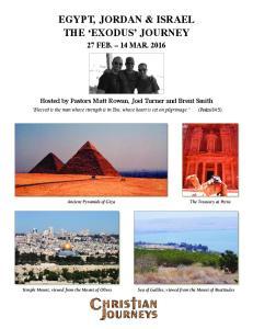 EGYPT, JORDAN & ISRAEL THE EXODUS JOURNEY