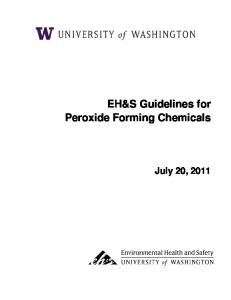 EH&S Guidelines for Peroxide Forming Chemicals July 20, 2011