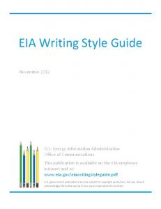 EIA Writing Style Guide