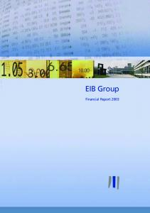 EIB Group Financial Report 2003