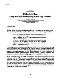 Eid-ul-Adha: Going with local moon sighting or with Hajj Schedule?