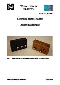 Eigenbau Retro-Radios. Abschlussbericht