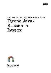 Eigene Java- Klassen in Intrexx