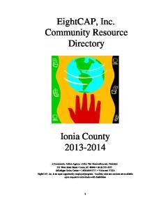 EightCAP, Inc. Community Resource Directory